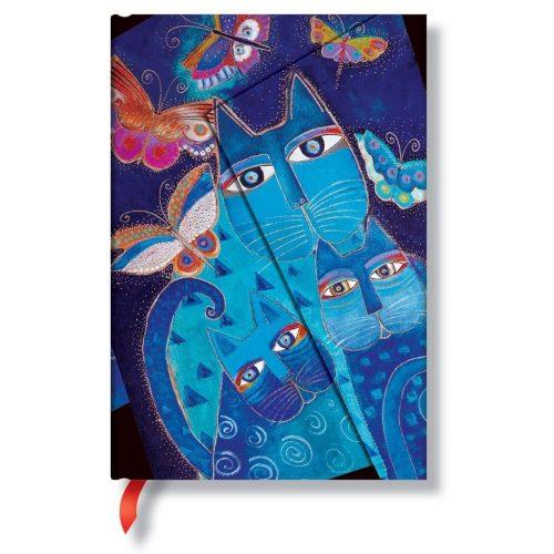 Paperblanks butikkönyv Blue Cats & Butterflies mini vonalas