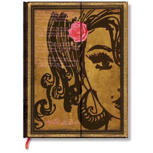 Paperblanks butikkönyv Amy Winehouse, Tears Dry (LIMITÁLT KIADÁS) ultra vonalas