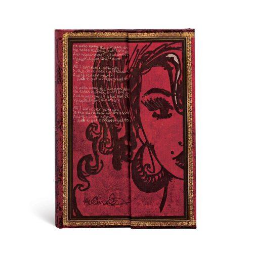 Paperblanks butikkönyv Amy Winehouse, Tears Dry mini vonalas