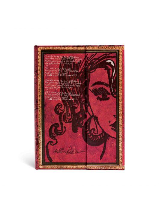 Paperblanks butikkönyv Amy Winehouse, Tears Dry midi vonalas