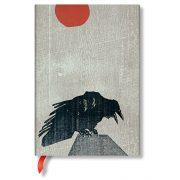 Paperblanks butikkönyv Crow with Red Sun midi üres