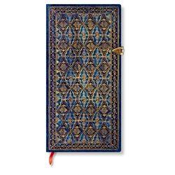 Paperblanks butikkönyv Blue Rhine slim vonalas