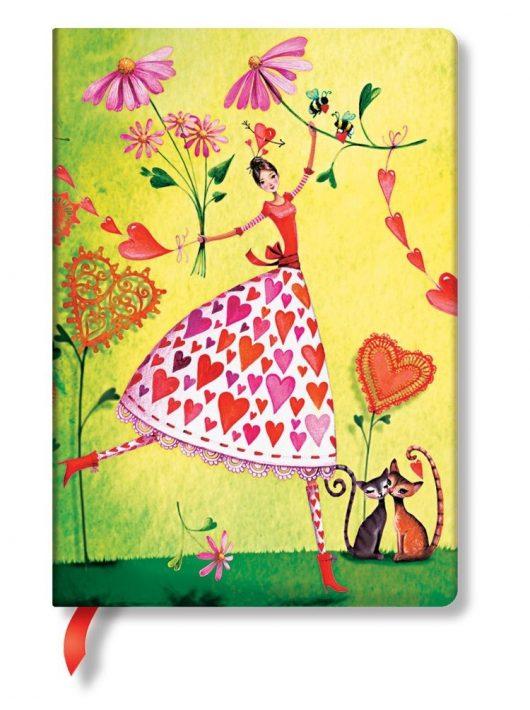 Paperblanks butikkönyv Valentina midi vonalas