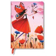 Paperblanks butikkönyv Poppy Field midi vonalas