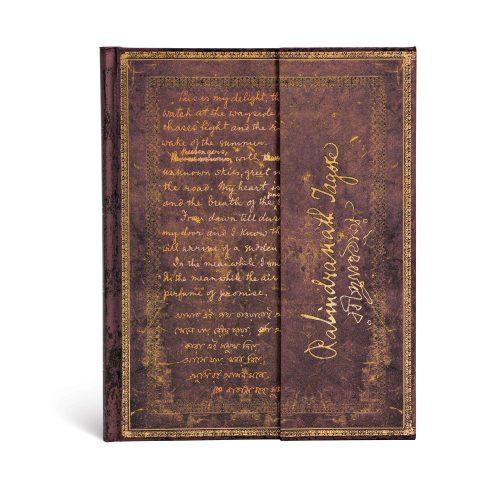 Paperblanks butikkönyv Tagore, Gitanjali ultra vonalas