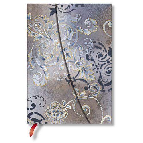 Paperblanks butikkönyv Gossamer Grey midi vonalas
