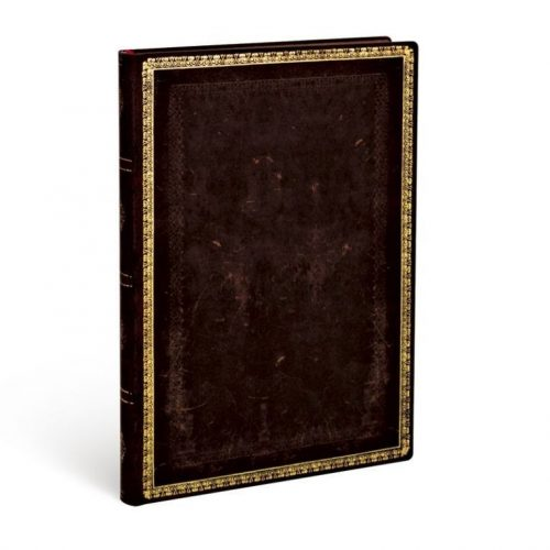 Paperblanks FLEXIS notesz, füzet Black Moroccan midi vonalas 240 old.