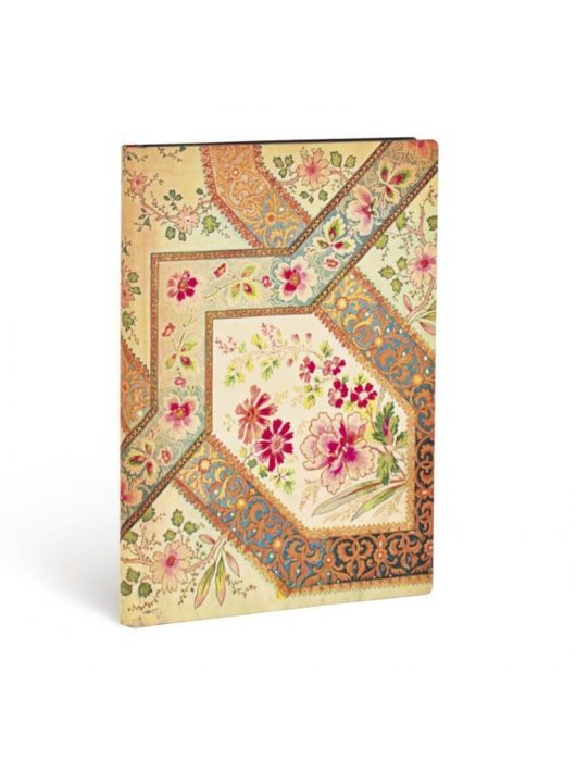 Paperblanks FLEXIS notesz, füzet Filigree Floral Ivory Kraft midi vonalas 240 old.
