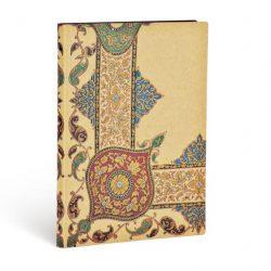 FLEXIS notesz, füzet Visions of Paisley Ivory Kraft midi vonalas 240 old.