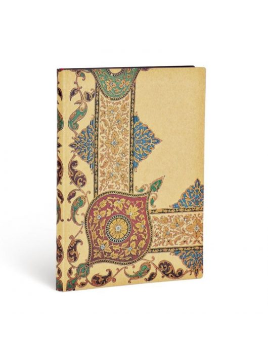 Paperblanks FLEXIS notesz, füzet Visions of Paisley Ivory Kraft midi vonalas 240 old.