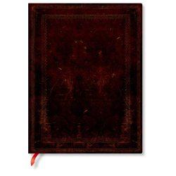 FLEXIS notesz, füzet Black Moroccan Bold ultra üres 176 old.