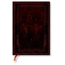 FLEXIS notesz, füzet Black Moroccan Bold midi üres 240 old.