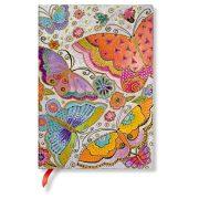 Paperblanks FLEXIS notesz, füzet Flutterbyes midi üres 176 old.