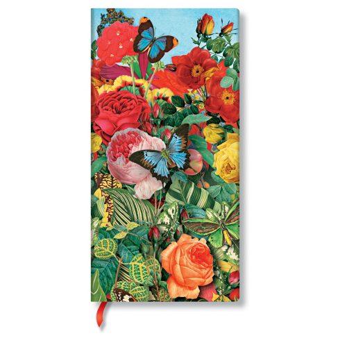 Paperblanks butikkönyv Butterfly Garden slim vonalas