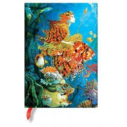 Paperblanks butikkönyv Sea Fantasies midi vonalas