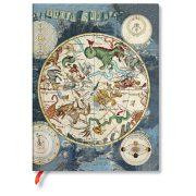 FLEXIS notesz, füzet Celestial Planisphere  ultra üres 176 old.