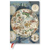 FLEXIS notesz, füzet Celestial Planisphere  midi üres 176 old.