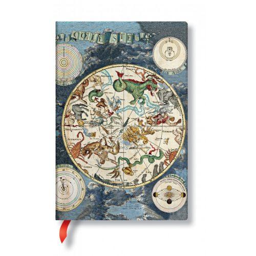 FLEXIS notesz, füzet Celestial Planisphere mini vonalas 176 old.