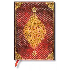 Paperblanks butikkönyv Golden Trefoil midi vonalas