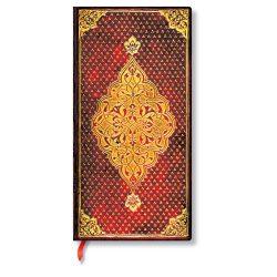 Paperblanks butikkönyv Golden Trefoil slim vonalas