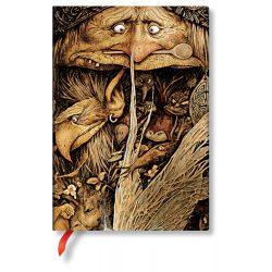 Paperblanks butikkönyv Mischievous Creatures midi vonalas