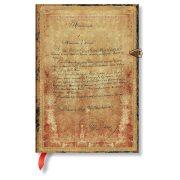 Paperblanks butikkönyv Dumas' 150th Anniversary midi vonalas