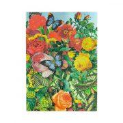 Paperblanks FLEXIS notesz, füzet Butterfly Garden midi vonalas 176 old.