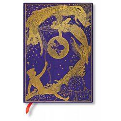 Paperblanks butikkönyv Violet Fairy midi vonalas