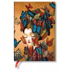 Paperblanks butikkönyv Madame Butterfly midi vonalas