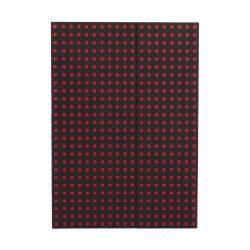 Paper-Oh Quadro Black on Red B5 üres