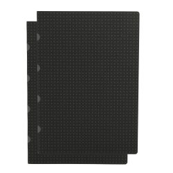 Paper-Oh Cahier Circulo Black on Grey / Black on Grey A4 üres