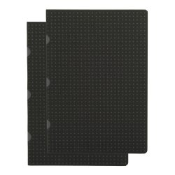 Paper-Oh Cahier Circulo Black on Grey / Black on Grey A5 üres