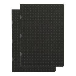 Paper-Oh Cahier Circulo Black on Grey / Black on Grey A5 kockás