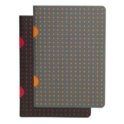 Paper-Oh Cahier Circulo Black on Red / Black on Red B7 üres