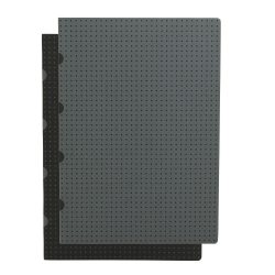 Paper-Oh Cahier Circulo Black on Grey / Grey on Black A4 kockás