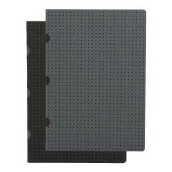 Paper-Oh Cahier Circulo Black on Grey / Grey on Black A5 üres